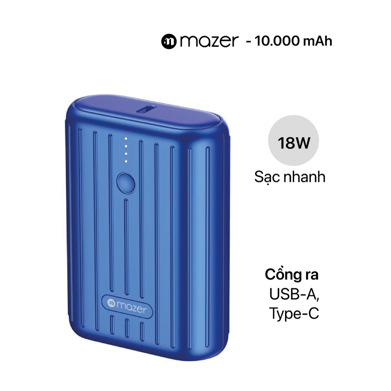 Pin sạc dự phòng MAZER Pocket Power Mini 10000mAh 18W