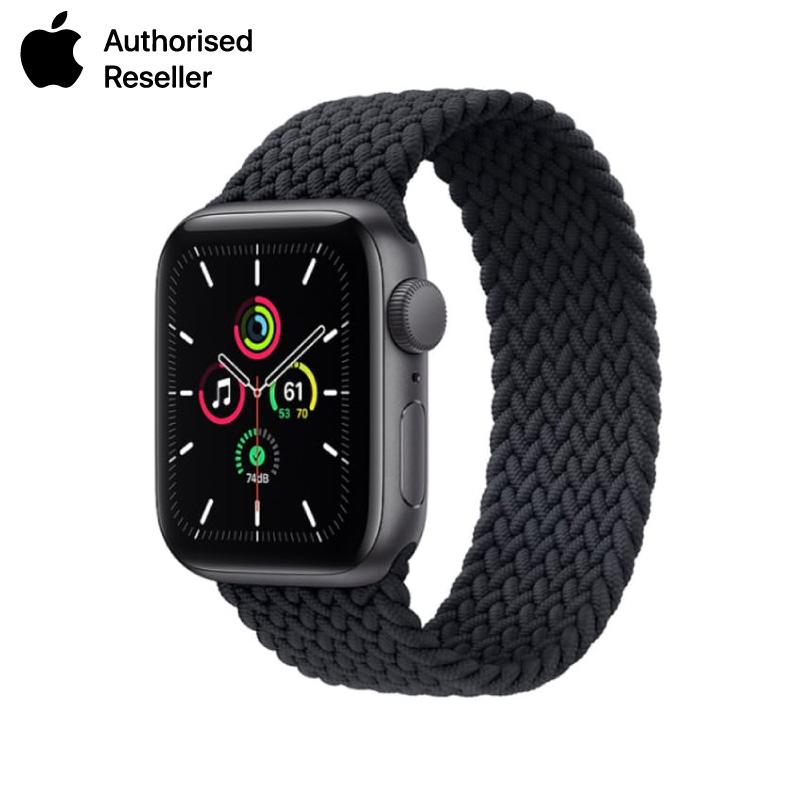 Apple Watch SE 44mm (4G) viền nhôm xám - Dây vải chính hãng (Full VAT)