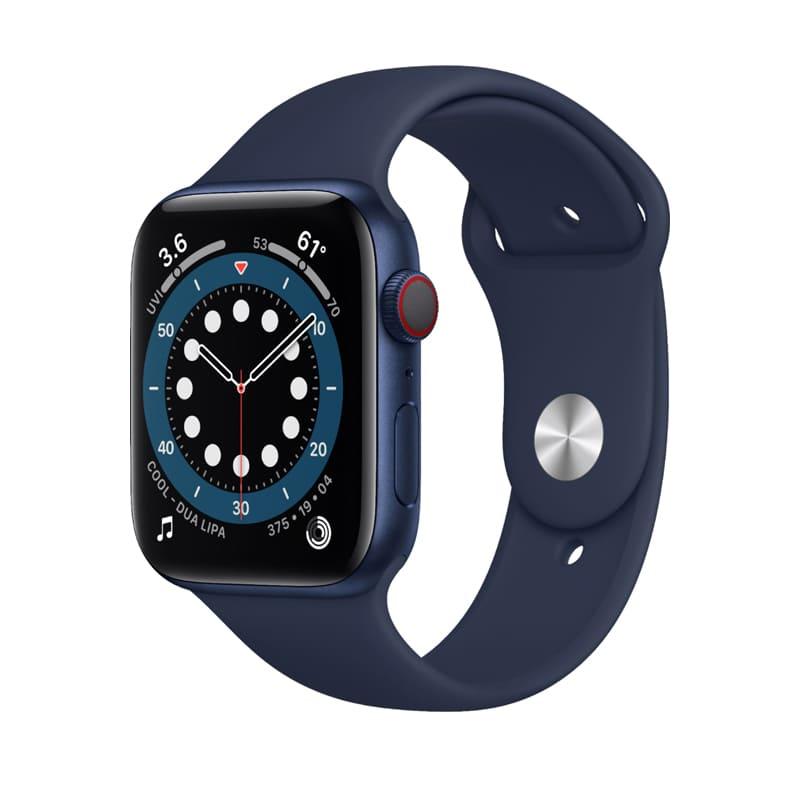 Apple Watch Series 6 40mm (4G) viền nhôm xanh - Dây cao su chính hãng (Full VAT)