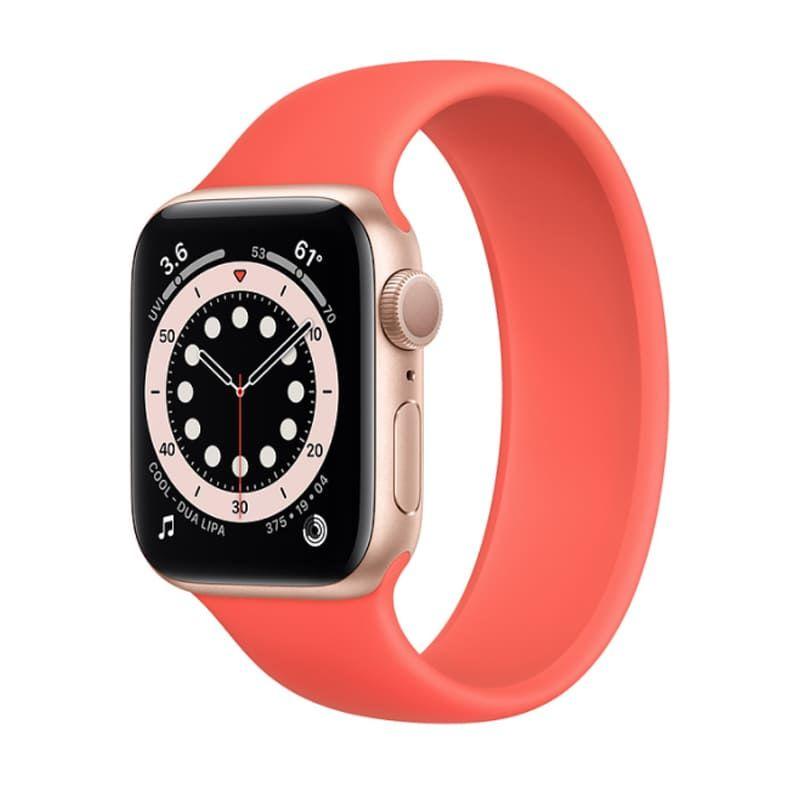 Apple Watch Series 6 40mm (GPS) viền nhôm vàng - Dây cao su chính hãng (Full VAT)