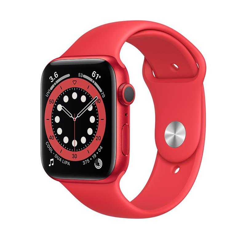 Apple Watch Series 6 44mm (GPS) viền nhôm đỏ - Dây cao su chính hãng (Full VAT)