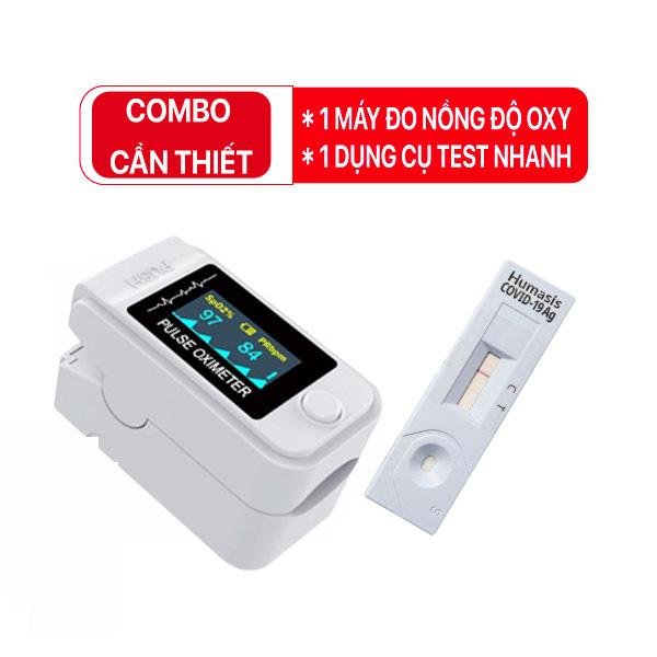 Bộ Combo y tế CẦN THIẾT ( 1 máy đo SPO2 + 1 kit test Covid-19)