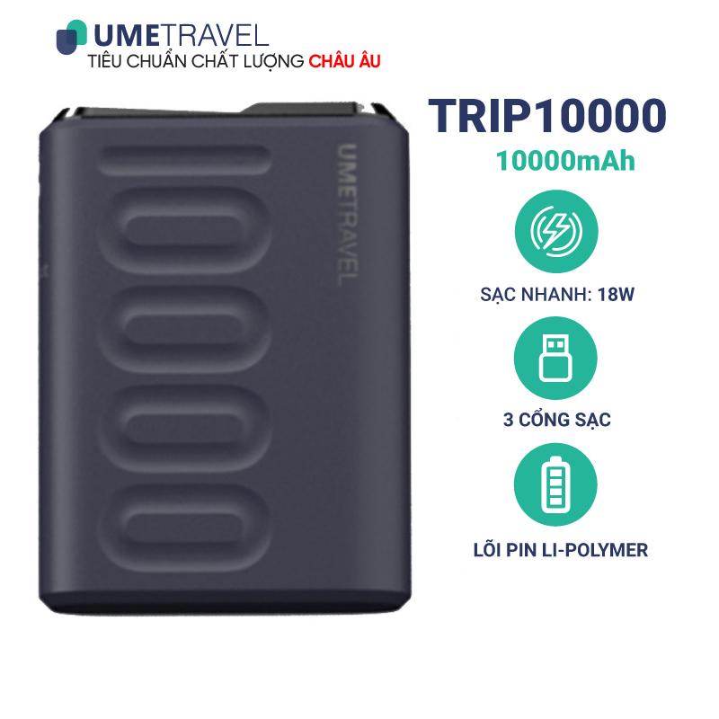 Pin dự phòng sạc nhanh 10000mAh Umetravel TRIP10000