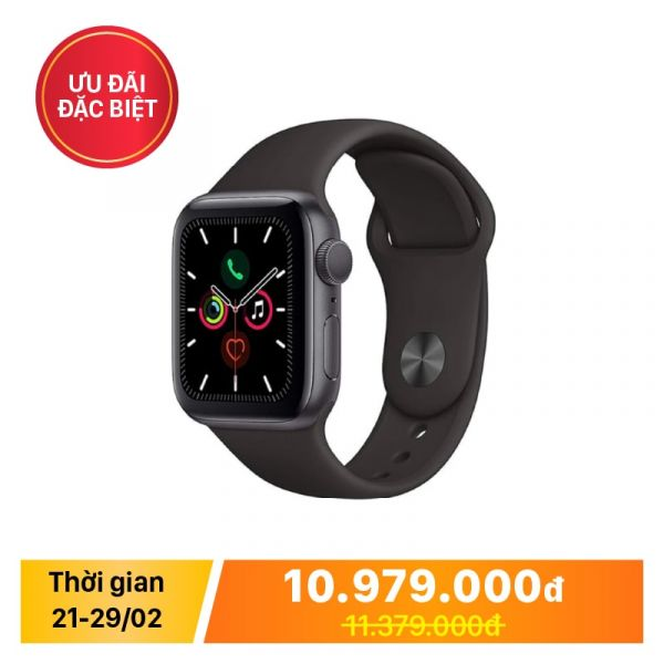 Apple Watch Series 5 40MM Space Gray Aluminum