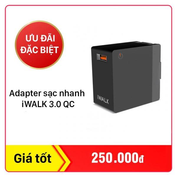 Adapter củ sạc nhanh iWALK 3.0 QC ADL005Q-001A
