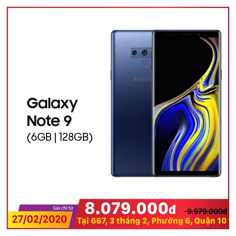 Samsung Galaxy Note 9 SM-N960 128GB (Bản Mỹ) (Like New)
