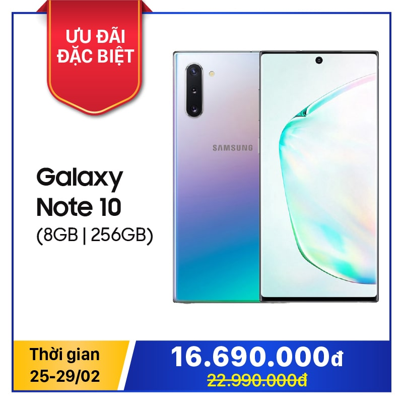 Samsung Galaxy Note 10 (8GB|256GB) (CTY, BHĐT)