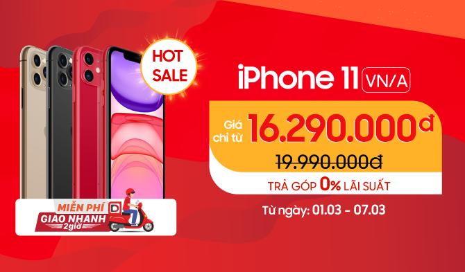 iPhone 11 VN/A Giá chỉ từ 16,2 triệu