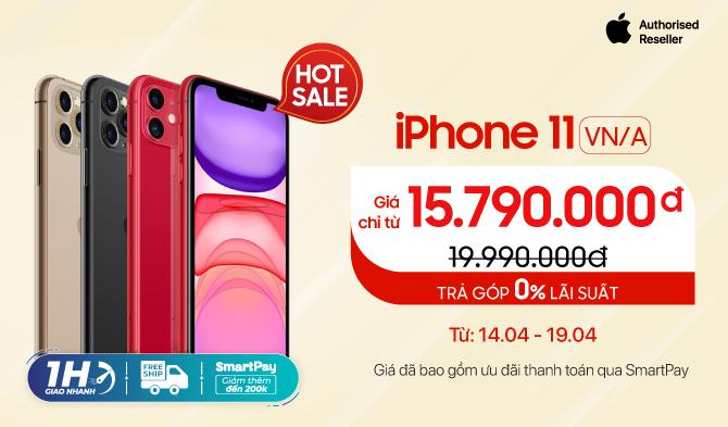 iPhone 11 64GB VN/A Giá chỉ từ 15,7 triệu