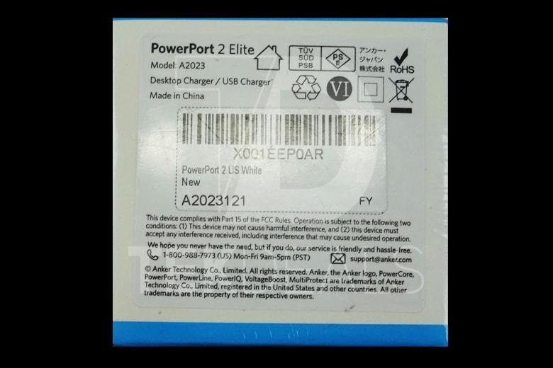 Adapter củ sạc Anker PowerPort Elite 2, 24w - A2023