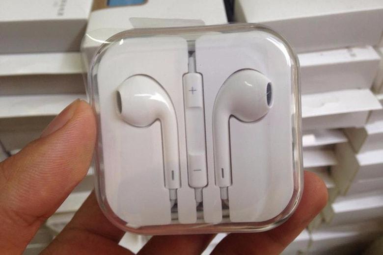 Tai nghe iPhone 5 L1 logo táo màng xanh